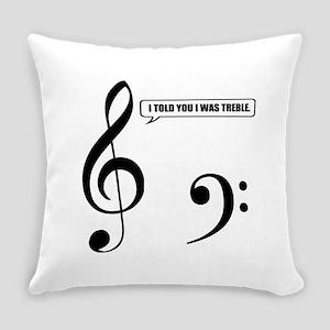 Treble Clef Everyday Pillow