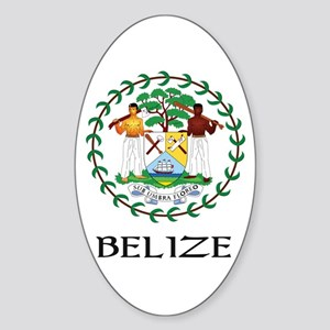 Belize Coat of Arms Oval Sticker
