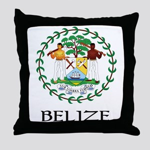 Belize Coat of Arms Throw Pillow
