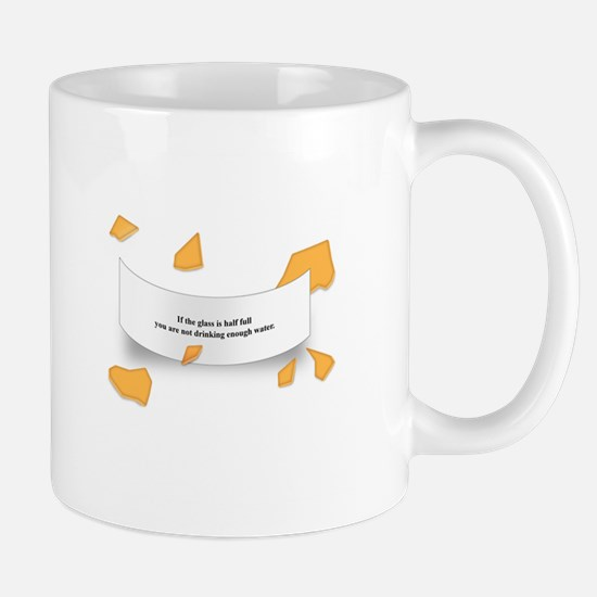 If the glass is half full Mug