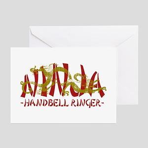 Dragon Ninja Handbell Ringer Greeting Cards (Pk of