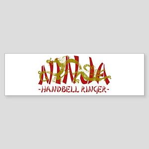 Dragon Ninja Handbell Ringer Bumper Sticker
