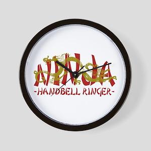 Dragon Ninja Handbell Ringer Wall Clock