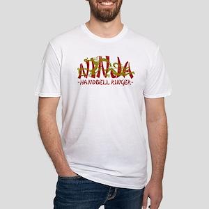 Dragon Ninja Handbell Ringer Fitted T-Shirt