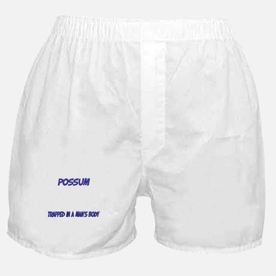 Possum Trapped In A Man's Body Boxer Shorts