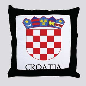 Croatia Coat of Arms Throw Pillow