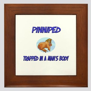 Pinniped Trapped In A Man's Body Framed Tile