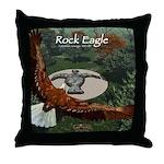 Rock Eagle Throw Pillow