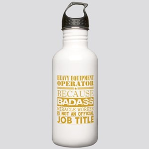 Heavy Equip Operator B Stainless Water Bottle 1.0L