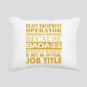 Heavy Equip Operator Bec Rectangular Canvas Pillow