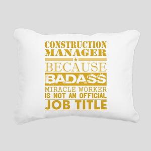 Construction Managr Beca Rectangular Canvas Pillow