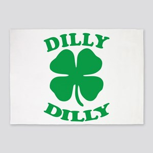 Dilly Dilly Saint Patricks Day 5'x7'Area Rug