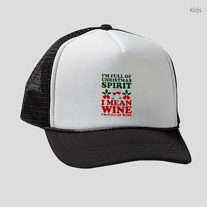 Im Full Of Christmas Spirit I Mea Kids Trucker hat