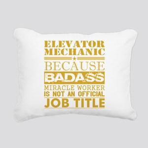 Elevator Mechanic Becaus Rectangular Canvas Pillow