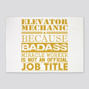 Elevator Mechanic Because Miracle W 5'x7'Area Rug