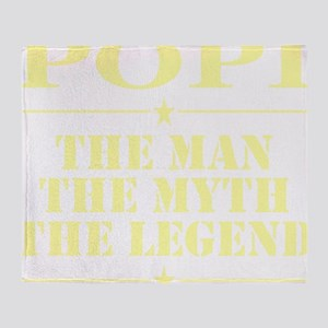 Popi The Man The Myth The Legend Throw Blanket