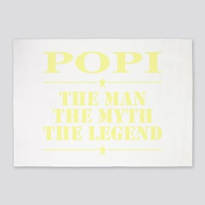 Popi The Man The Myth The Legend 5'x7'Area Rug