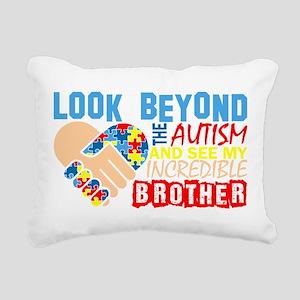 Look Beyond Autism And S Rectangular Canvas Pillow