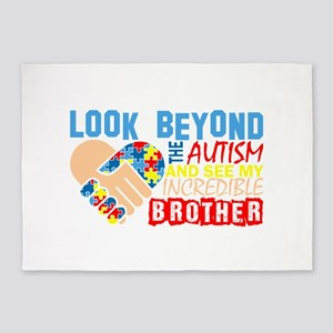 Look Beyond Autism And See My Incre 5'x7'Area Rug