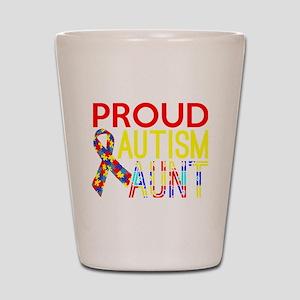 Proud Autism Aunt Awareness Shot Glass