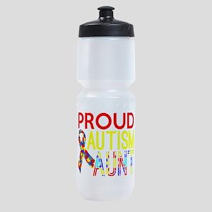Proud Autism Aunt Awareness Sports Bottle