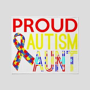 Proud Autism Aunt Awareness Throw Blanket