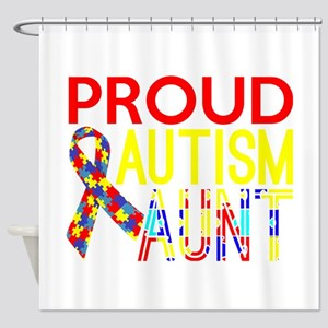 Proud Autism Aunt Awareness Shower Curtain