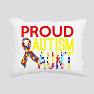 Proud Autism Aunt Awaren Rectangular Canvas Pillow