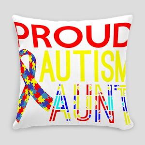 Proud Autism Aunt Awareness Everyday Pillow