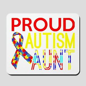 Proud Autism Aunt Awareness Mousepad