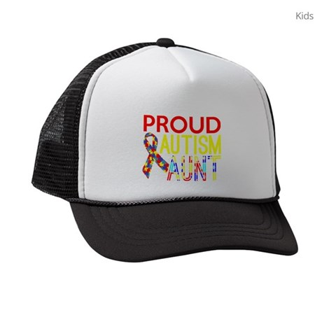 Proud Autism Aunt Awareness Kids Trucker hat