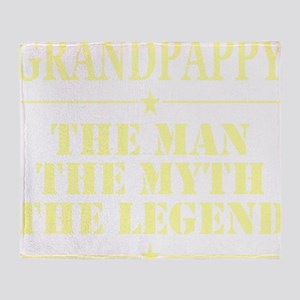 Grandpappy The Man The Myth The Lege Throw Blanket