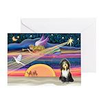 XmasAngel - Bearded Collie(s) Greeting Card