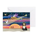 XmasAngel - Bearded Coll Greeting Cards (Pk of 20)