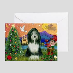 FantasyLand Xmas-Bearded Collie Greeting Card