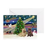 XmasSunrise/3 Cairns Greeting Card