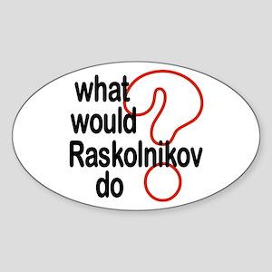 Raskolnikov Oval Sticker