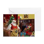 Santa's Chow Chow Greeting Card
