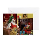 Santa's Chow Chow Greeting Cards (Pk of 10)