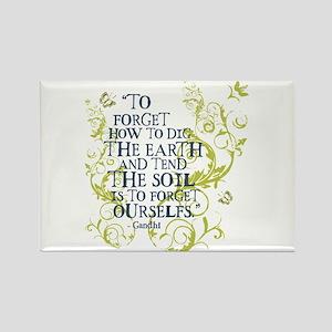 Gandhi Vine - Dig the earth - Blue & Green Rectang