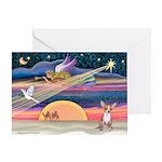 Night Flight/Chihuahua Greeting Card