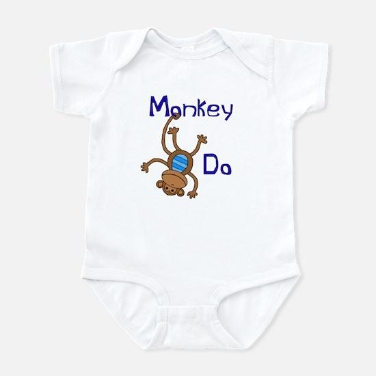 Monkey Do blue Infant Bodysuit
