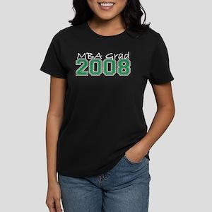 MBA Grad 2008 (Green) Women's Dark T-Shirt