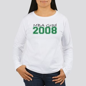 MBA Grad 2008 (Green) Women's Long Sleeve T-Shirt