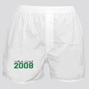 MBA Grad 2008 (Green) Boxer Shorts