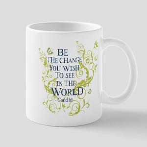 Gandhi Vine - Be the change - Blue & Green Mug