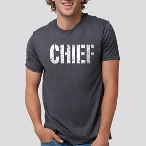 Chief white distressed prin T-Shirt