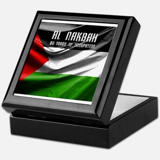 Nakba-60 years of occupation Keepsake Box