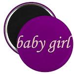 Baby Girl (pink & purple) Magnet