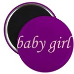 Baby Girl (pink & purple) Magnet